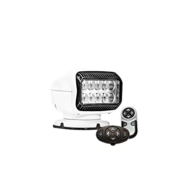 Golight GT Series 20074GT LED Spotlight Permanent Mount Dual Wireless Remote Controls, White