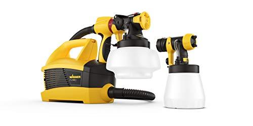 WAGNER Farbsprühsystem W 690 FLEXiO für Dispersions-/Latexfarben, Lacke & Lasuren im Innen- & Außenbereich, 15 m²-6 min, Behälter 1800 ml/800 ml, 630 W, Schlauch 3,5 m