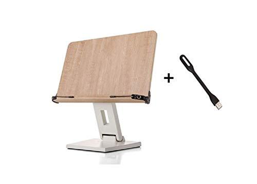 Eyelevel–leggio in legno lettura resto leggio per libro di cucina di supporto per libro musica Score scrivania di altezza regolabile 270° angolo regolabile