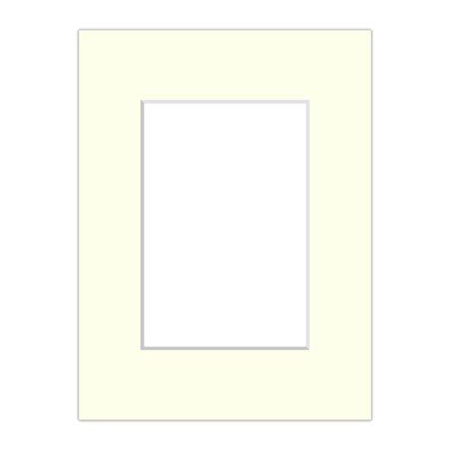 Premium Passepartout Alt-Weiß - alle Standard Größen - 1,4mm stark - Museumsqualität (Außen: 40x50 / Innen: DIN A3)
