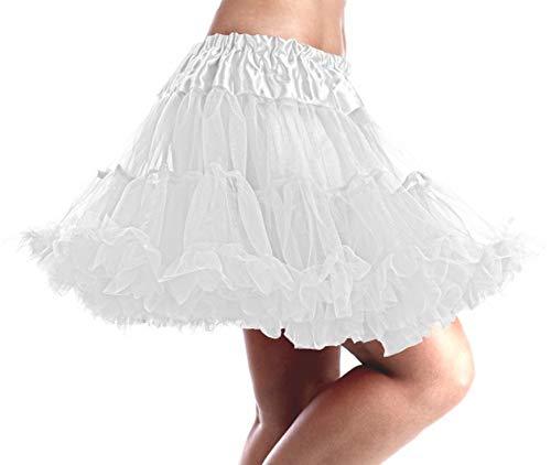 Fun Shack Weißes Tutu Kostüm für Damen, Tüllrock, Karneval und Halloween - Einheitsgröße