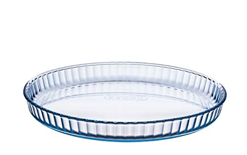 Pyrex Prep & Bake Glass Fluted Flan Tart Dish - High Heat Resistance Borosilicate Glass - 27.8 x 3.5 cm, 1.4 litres