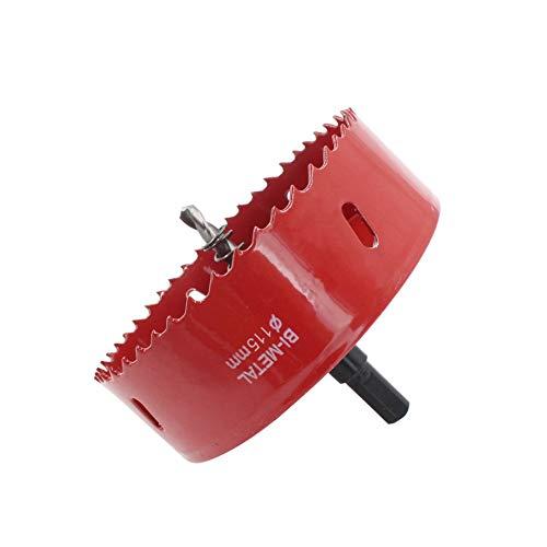 Houdao Juego de sierras perforadoras 115mm M42 Bi-Metal Juego de cortadores perforadores con eje hexagonal y brocas de metal para centrar para madera, metal, yeso planchas de hierro tubos de plástico