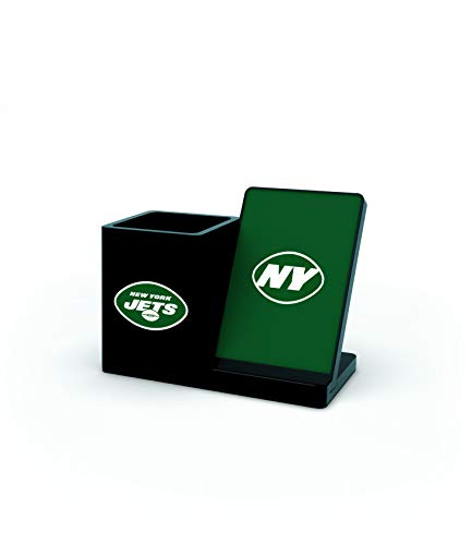 NFL New York Jets Wireless Charger and Desktop Organizer, Team Color