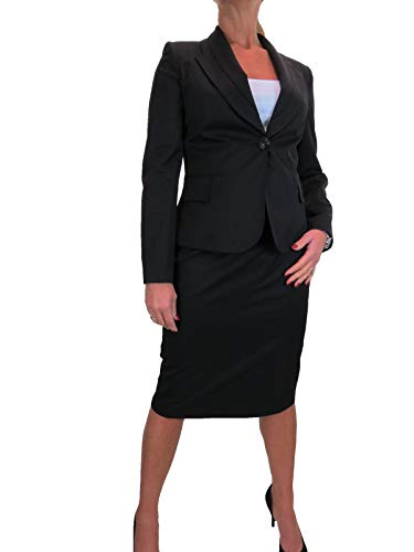 Vrouwen Smart 2 Stuk Formele Business Office Blazer Jas Rok Pak Volledig Gevoerd Werk 10-24