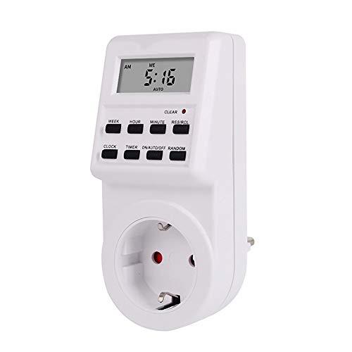 DAWWFV Europäische Verordnung, amerikanische Verordnung Smart-Timer Steckdose, Energiespardose, Geeignet for Küche, Klimaanlage, Warmwasserbereiter (Size : A)