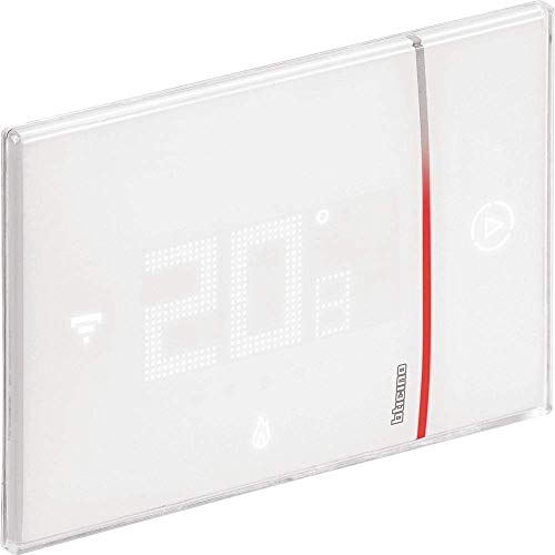 Bticino Termostato conectado Smarther2 with Netatmo de Legrand en color blanco, control de temperatura del hogar en remoto e instalación 2 hilos de empotrar