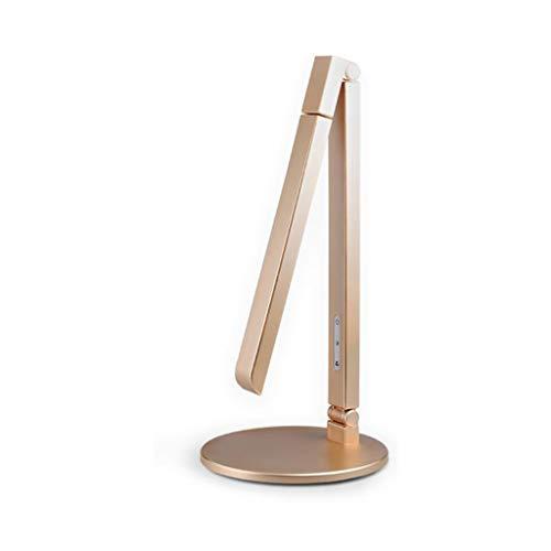 Lámpara LED de protección ocular para escritorio, estudiante, dormitorio infantil, lectura, dormitorio, noche, protección para los ojos, plegable, color dorado