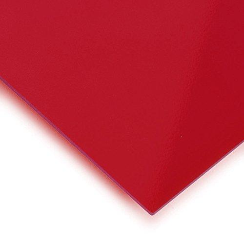 Metacrilato rojo transparente - DINA5 x 3 mm