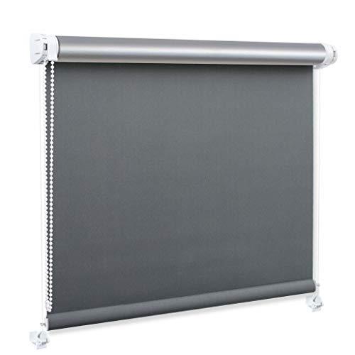 Generisch DECOSTEEL Thermo Rollo Ohne Bohren Thermobeschichtung Wärmedämmung Verdunkelung Graphitgrau [97x150 cm]