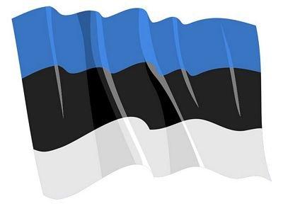 Autoaufkleber Sticker Fahne Estland wehend Flagge Aufkleber