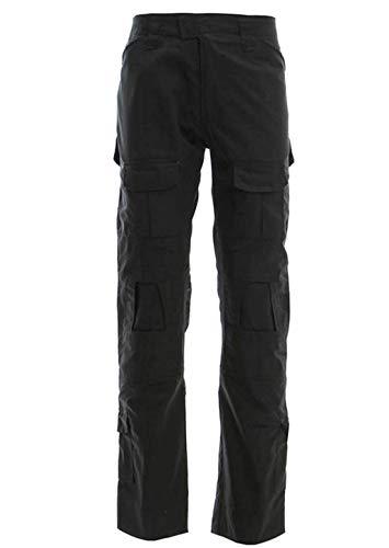 Herren Airsoft Hose Multicam Tactical Military Camo Hunting Combat Cargo Uniformhose, Black, XL