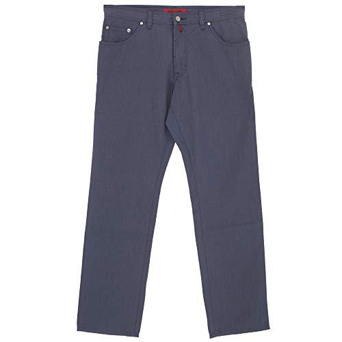 Preisvergleich Produktbild Pierre Cardin,  Deauville,  Herren Herren Jeans Hose Popeline Stretch Saphirblau Nadelstreifen W 36 L 32 [21502]