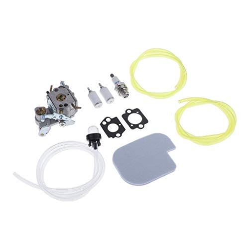 perfk Carburador para ZAMA C1M-W26 Poulan P3314 P3314WS + Línea de Combustible + Junta + Bujía