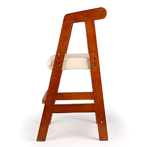 YAMEIJIA Kinderstoel kan worden verhoogd en verlaagd Studie kamer kinderstoel Eetstoel Student houding stoel computerstoel Cherrywood