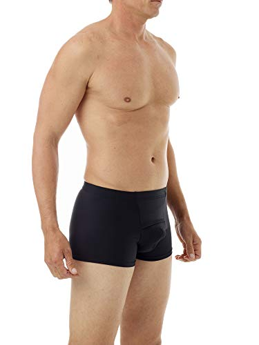 Underworks Microfiber Light Compression Boxers Medium Black