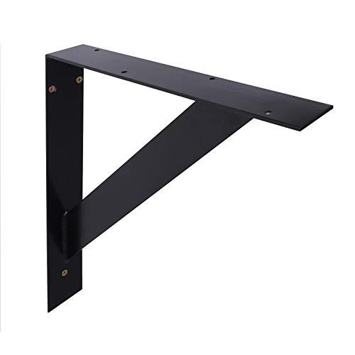 1 BestLoft® Waschtisch-Halterung für Waschtisch und Tisch | Halterung zum Anschrauben | Stahl Rohstahl pulverbeschichtet (1 Stück Schwarz)