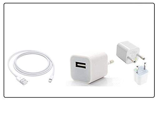 Croiky Fast Charging Adapter with USB Cable Compatible with All i-Phone Devices 3/3g/5se/5/5s/6/6s/7/7s/x/xsmax - (Charger)