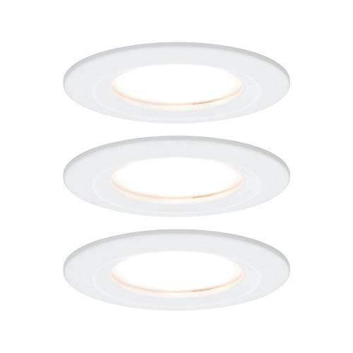 Paulmann 93496 Einbauleuchte LED Coin Nova rund 6,5W Weiß 3er-Set starr 3-Stufen-Dimmbar IP44 spritzwassergeschützt