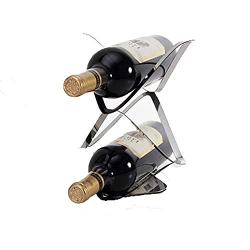 Estante de Vino s Estante de Vino de Metal, Muebles creativos de Estilo Europeo Estante de Botella de Vino Simple Moderno Gabinete de Vino Piezas de decoración Estante de Vino s