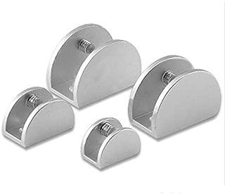 SHHOMELL 4Pcs/Set Space Aluminum Glass Clips Adjustable Wall Mounted Glass Shelf Clamp Bracket 5-15Mm Glass Holder 10-12mm