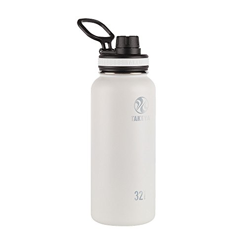 Takeya 32oz Originals Insulated Stainless Steel Water Bottle with Spout Lid - White