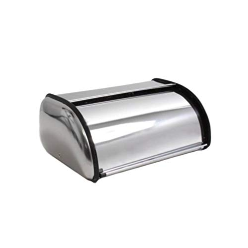 DOITOOL Stainless Steel Bread Box for kitchen Counter Large Capacity Bread Bin Bread Storage Holder Container Bakery Shop Home S No Window No Handle Silver