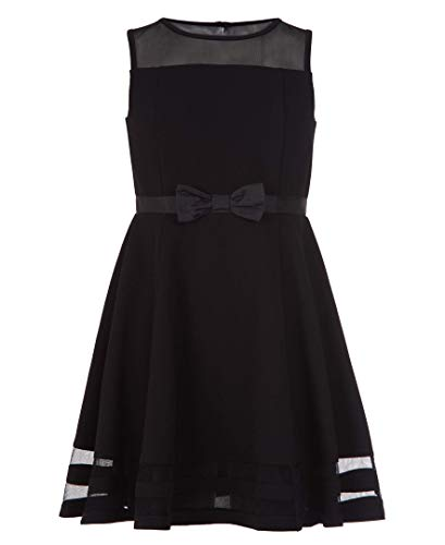 Calvin Klein Girls' Sleeveless Party Dress, Black, 10