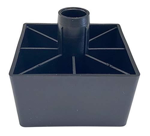 IKEA Kivik - Pierna de repuesto de plástico negro #121236 (2)