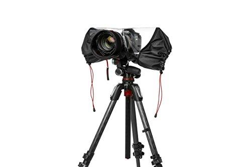 Manfrotto MB PL-E-702 Pro-Light Copertura Antipioggia per Fotocamera DSLR, per Uso con Reflex con Obiettivo Professionale, Impermeabile, Protegge da Polvere e Pioggia, per Fotografi, Nero/Antracite