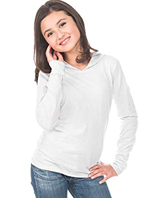 Kavio! Youth Long Sleeve Pullover Hoodie White XS
