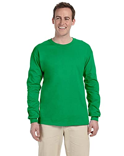 Fruit of the Loom 5 oz.Heavy Cotton HD Long-Sleeve T-Shirt (4930) -Kelly -L