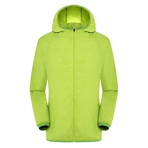 Chaquetas deportivas para hombre con capucha resistente al viento ultraligero impermeable
