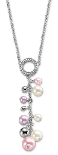 Esprit Damen-Halskette Purple Rain 925 Sterlingsilber 42-45 cm 4346440