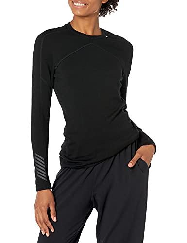 Helly Hansen W Hh Lifa Crew, Camiseta Deportiva para Mujer, Negro, Large (Tamaño del fabricante:L)