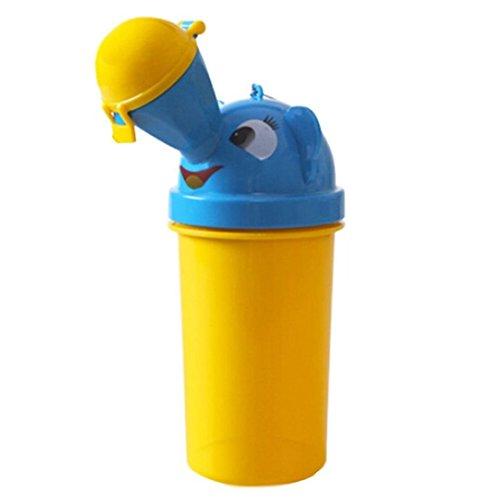 FireAngels - tragbares Kleinkinder-Töpfchen/Urinal für Jungen, fürs Töpfchentraining, für Camping, Auto, Reisen (gelb, für Jungen).