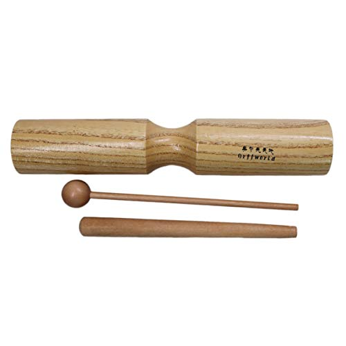 Sunnyflowk Kinder Kinder Holz Dual Bells Beater Sound Percussion Frühpädagogisches Instrument Kinder Klein Groß Zwei Größen Spielzeug für Geschenk (Holz)
