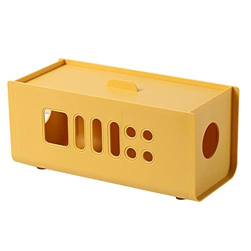Caja Organizadora Cables Caja Oculta Cables Amarillo Desktop Spatant Spatant Caja De Almacenamiento Caja De Cable Caja De Alambre Caja De Plástico Caja De Viaje Cargador De Zócalo