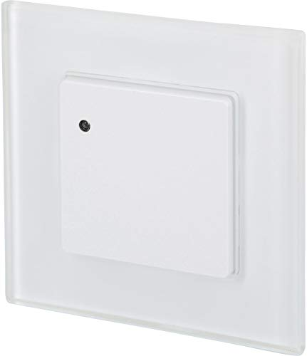 Detector de movimiento de radar HF empotrado – con marco de cristal – apto para LED – caja de 60 mm – 1 W-1200 W 230 V