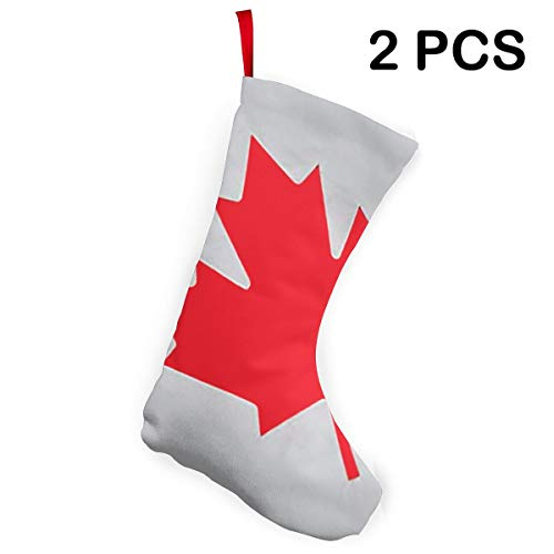 Cainy Kanada Flagge 1 Weihnachtsstrümpfe Manschette Strümpfe für Familienurlaub Xmas Party Dekorationen