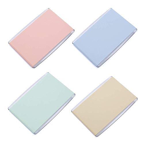 Detazhi Portable Pliant Mini Miroir cosmétique Candy Couleur Simple Face Maquillage Miroir de Bureau, for garçon et Fille Maquillage, Couleur aléatoire 7.8X11Cm