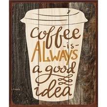 AOXT Blechschilder Blechschild Coffee Home Decor Shabby Chic Plakat Getränke-Deko Shop