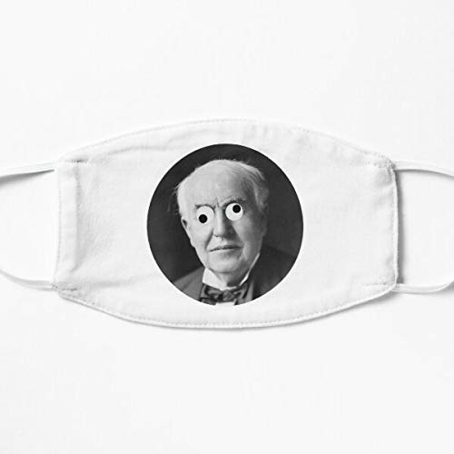 Googly Eyed Thomas Edison Cloth Face Covering For Men And Women