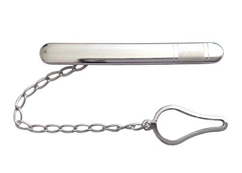 925 Sterling Silber Krawattenklammer mit Rhodium