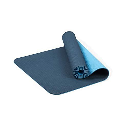 Fitness Matte Yogamatte rutschfeste TPE 6MM Hohe Dichte Umweltschutz Pro Trainings Hochwertig Schadstofffrei Übe Gymnastikmatten Home Workout