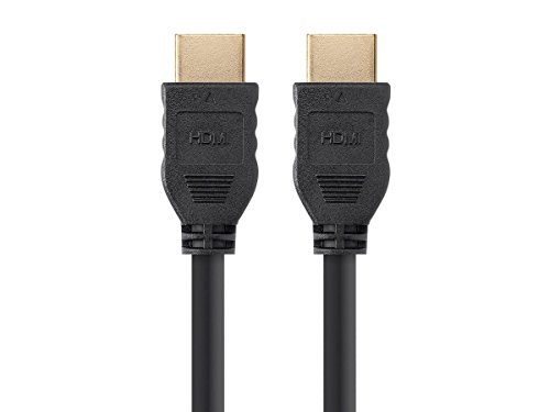 Monoprice High Speed HDMI Cable - 8 Feet - Black | No Logo, 4K @ 60Hz, HDR, 18Gbps, YUV 4:4:4, 30AWG, CL2 - Commercial Series