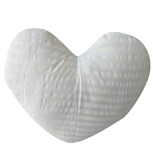 SIRIGOGO - Cojín con Forma de corazón, cojín de Felpa, cojín de Felpa, Regalo para el hogar, sofá, decoración del hogar, Accesorios de Dormitorio, decoración de habitación, 45 x 40 cm
