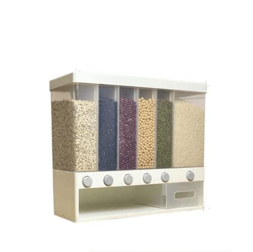 BAWAQAF - Secchio per cereali e riso, 10 kg, a prova di insetti e umidità, per cucina, contenitore per riso integrale, dispenser