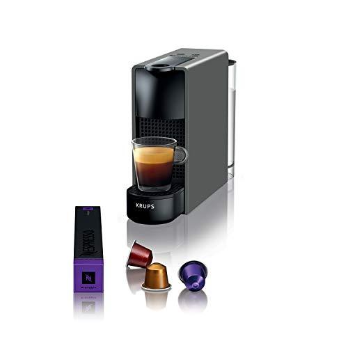 Krups Essenza Mini intense grey Nespresso Machine à café, 0,6 L, 19 bars, Cafetière Capsule de café, Barista, 2 tailles de tasse, Espresso, Lungo, Design ultra compact, Automatique YY2911FD