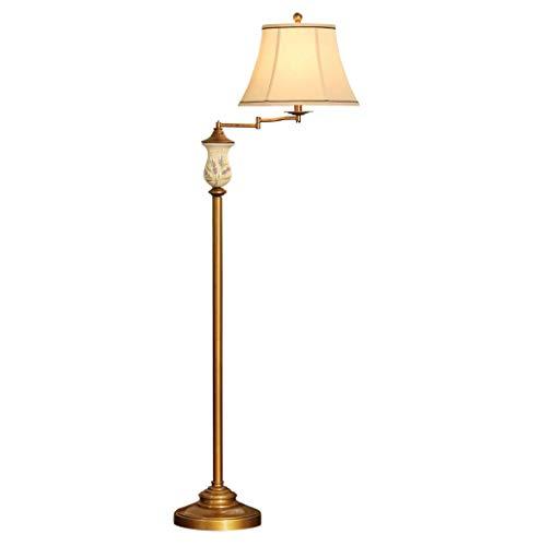 Nuokix Stehleuchte Helle Stehlampe, Lampe American Country Retro-Art-Harz Boden Haus Dekoration
